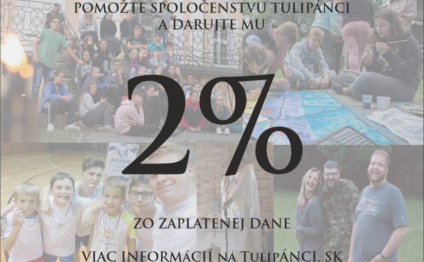 Podpora formou poukázania 2% zo zaplatenej dane